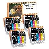 D&C 24er Set Cartuchos de tinta para impresoras PGI550 CLI551 Compatible con Canon Pixma iP7200 iP7250 iP8750 iX6850 MG5450 MG5550 MG5650 MG5655 MG6350 MG6450 MG6650 MG7100 MG7150 MG7550 MX725 MX925