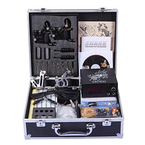 Shark Professional Tattoo Kit 4 Machines Gun Carry Case
