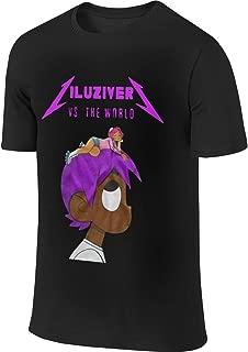 HLSM Lil-Uzi-Vert Customized Cool T-Shirt for Unisex Black Humor Party Black Tee