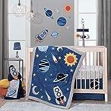 Lambs & Ivy Milky Way Space Galaxy 4-Piece Baby Nursery Crib Bedding...