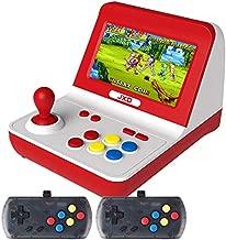 New Classic Nostalgia Big Rocker Retro Mini Arcade Console Dual-core 32GB Build in 9000 Games Arcade neogeo/cp1/cp2/gbc/gb/sens/nes/smd mp3 mp4 (red-White)