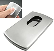 KINGFOM™ Stainless Steel Wallet Business Name Credit ID Card Holder Case (Steel)