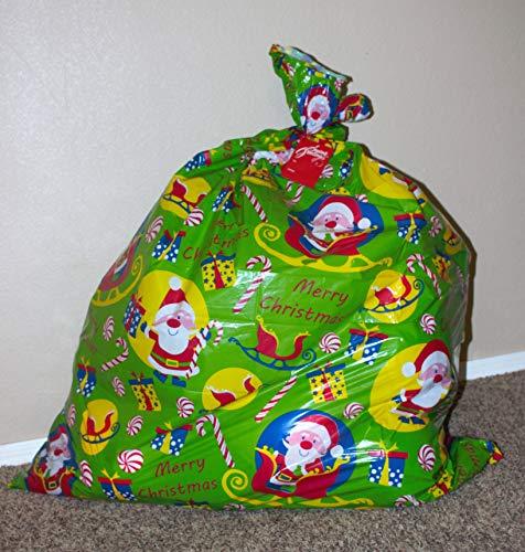 Giant Christmas Santa Claus Theme Plastic Gift Bag 38' x 48'