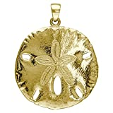 Large Sand Dollar Charm in 18k Yellow Gold