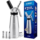 UPGRADED All Metal Whipped Cream Dispenser by ZOEMO - Reinforced Leak-Free Cream Whipper w...