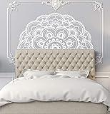 Halbe Mandala Wandaufkleber Stil Wandbild Home Schlafzimmer Dekor Abnehmbare Mandala Blumen Design Wandaufkleber A6 87x42cm