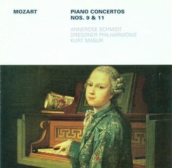 MOZART, W.A.: Piano Concertos Nos. 9 and 11 (Schmidt, Dresden Philharmonic, Masur)