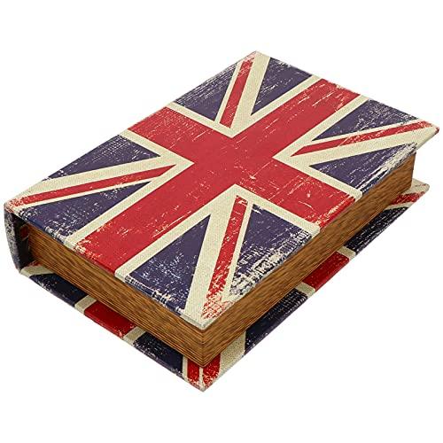 Cabilock 1 caja de almacenamiento vintage con libro falsificado, joyas, libro de simulación, adornos prácticos.