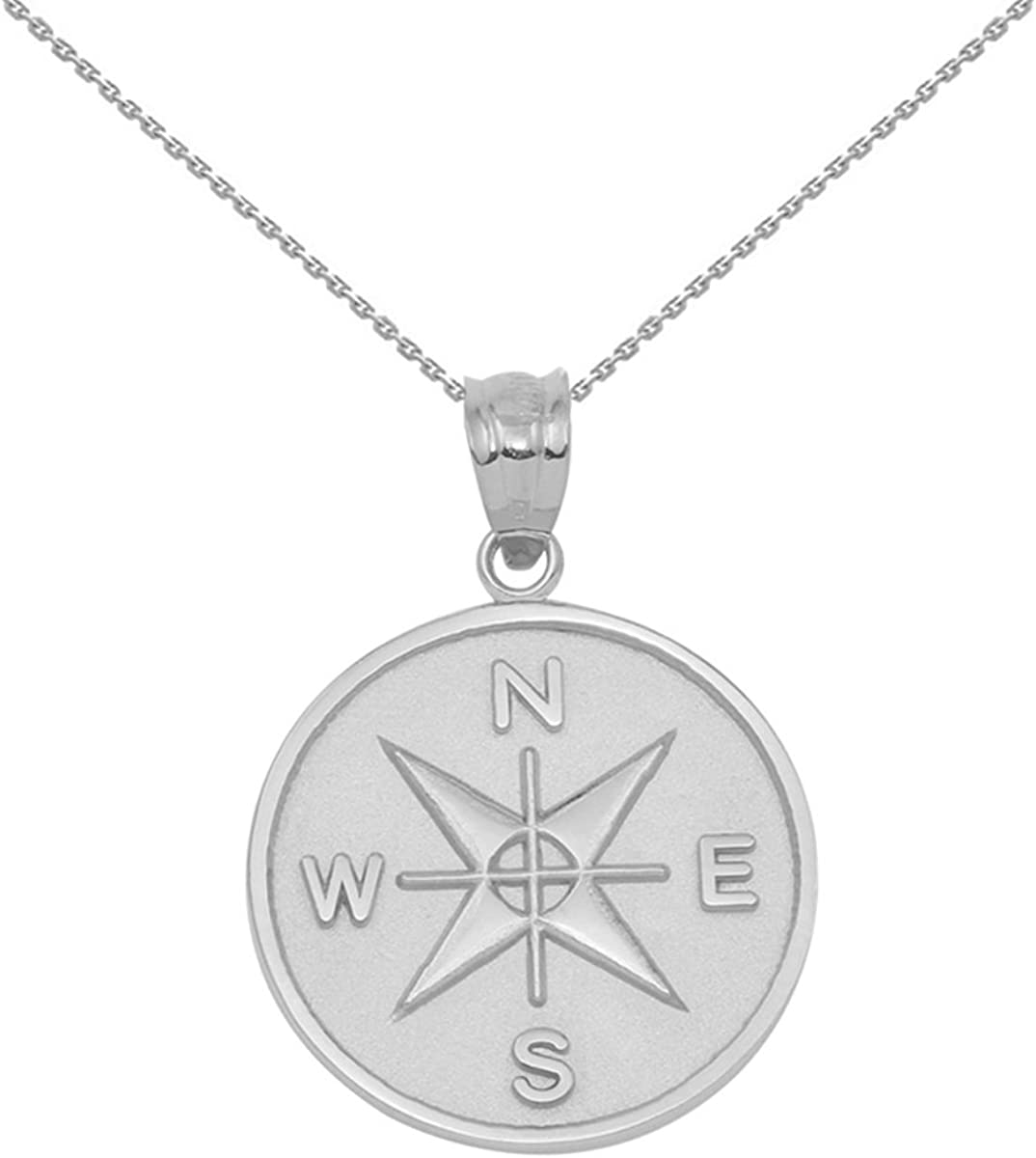925 Sterling Silver Compass Pendant Medallion Necklace SALENEW very Free Shipping New popular Charm