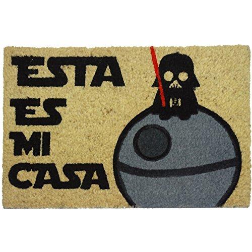 koko doormats felpudos Entrada casa Originales, Fibra de Coco y PVC, Felpudo Exterior Friki Esta ES MI CASA, 40x60x1.5 cm |...