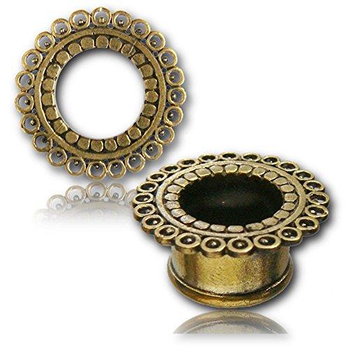 Chic-Net círculos Túnel de latón de Vida níquel oro latón libre enchufe de expansión pendientes orgánicos