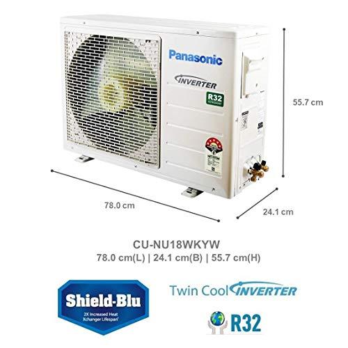 Panasonic 1.5 Ton 5 Star Wi-Fi Twin Cool Inverter Split AC (Copper, PM 2.5 Filter, 2020 Model, CS/CU-NU18WKYW, White)