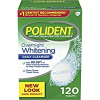 120-Count Polident Overnight Whitening Antibacterial Cleanser Tablets