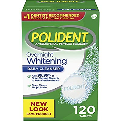 Polident Overnight Whitening Antibacterial