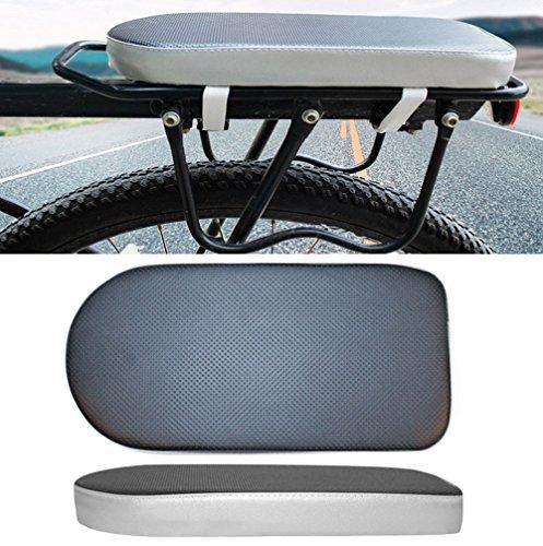Colorful Fahrrad-Gepäckträger,Bequeme Fahrrad-weiche Kissen-Sitz-Hinterzahnstange für Erwachsene Kinder