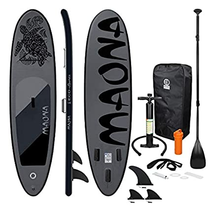 ECD Germany Tabla Hinchable Maona Paddle Surf Negro