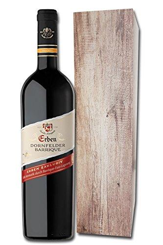 ERBEN Dornfelder Barrique Trocken Geschenkpackung (1 x 0.75 l) Rotwein Geschenk Deutschland Qualitätswein Pfalz