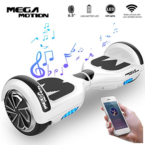 "Mega Motion Hoverboard Self Balance Scooter Elettrico E1-6.5"" Elettrico Segway - Bluetooth - [Sicurezza UL CE]"