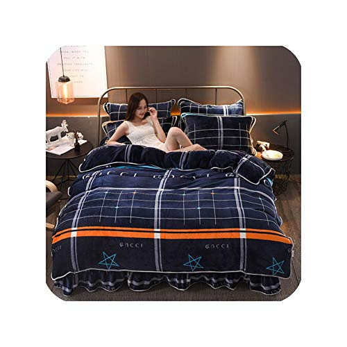 Best Prices! Winter Coral Four Piece Flannel Double Face Quilt Cover Fallette Thickened Milk Fleece ...