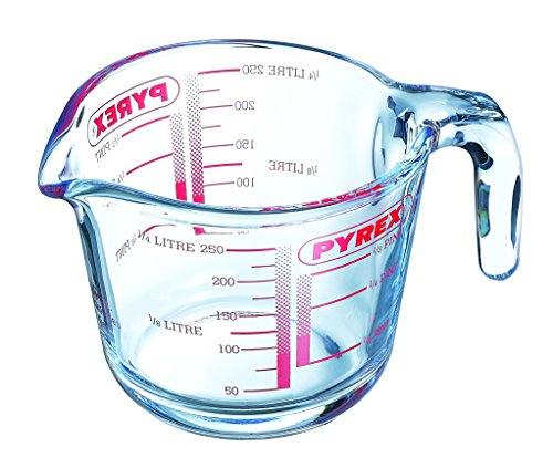 Pyrex Messbecher, Glas, Transparent, 0,25 l