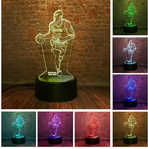 Lámpara de ilusión óptica Increíble Aficionados a los deportes en 3D Favor de mano Top Baloncesto Voleibol Disparos Fútbol 7 Color Luz nocturna Led A