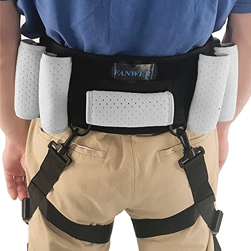 Transfer Belts for Lifting Seniors(39inch-59inch)- Gait Belt with Handles & Leg Loops, Gait Belts Transfer Belts, Anti-Slip, Long Strap & Quick Release Metal Buckle, Gait Belts for Seniors, Elderly