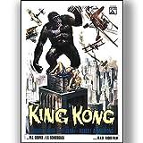 King Kong Film Film Poster Vintage Retro-Stil Leinwand Wand