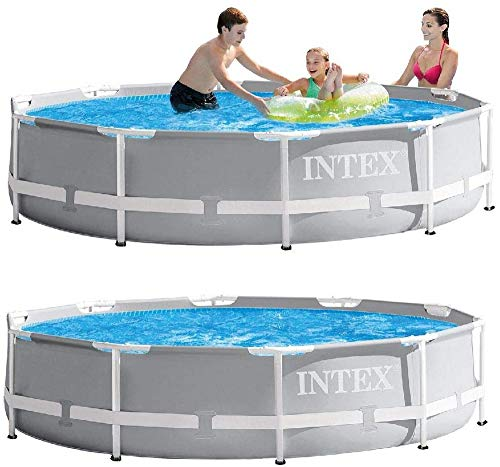 Intex 10Ft X 30In Prism Frame Pool Set 26702GN, Blau Grau