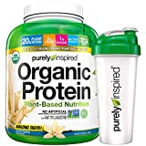 Purely Inspired Organic Protein Shake Powder + Shaker Bottle, 100%...