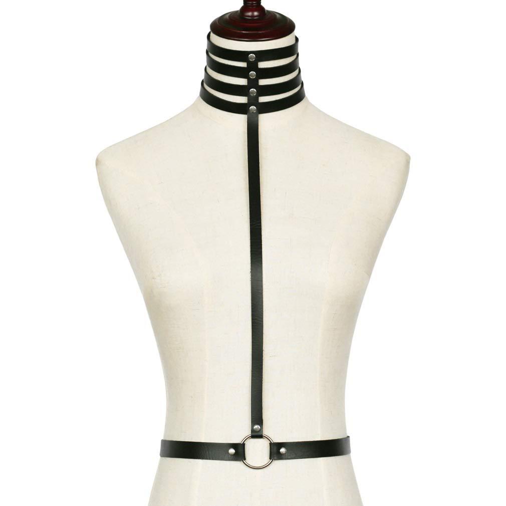 Women's Waist Belts Punk Sexy Harness Body Chain Adjustable Strap Necklace