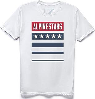 Alpinestars Unisex-Adult National Tee - White (2X) (Multi, One Size)