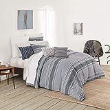 Splendid Home Tuscan Stripe Comforter Set, King, Moody Blue/Multi