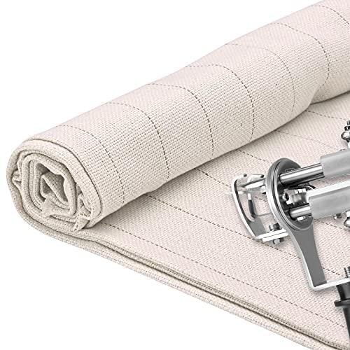 TELAM 1 M * 5 M Paño de mechones primario, Fabricación de alfombras de Tela Malla DIY para Pistola de mechones de alfombras eléctrica con Pistolas de mechones de Ancho 5 m con línea de guía