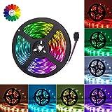 Adoric LED Streifen 5M RGB LED Strip 5050 SMD 150