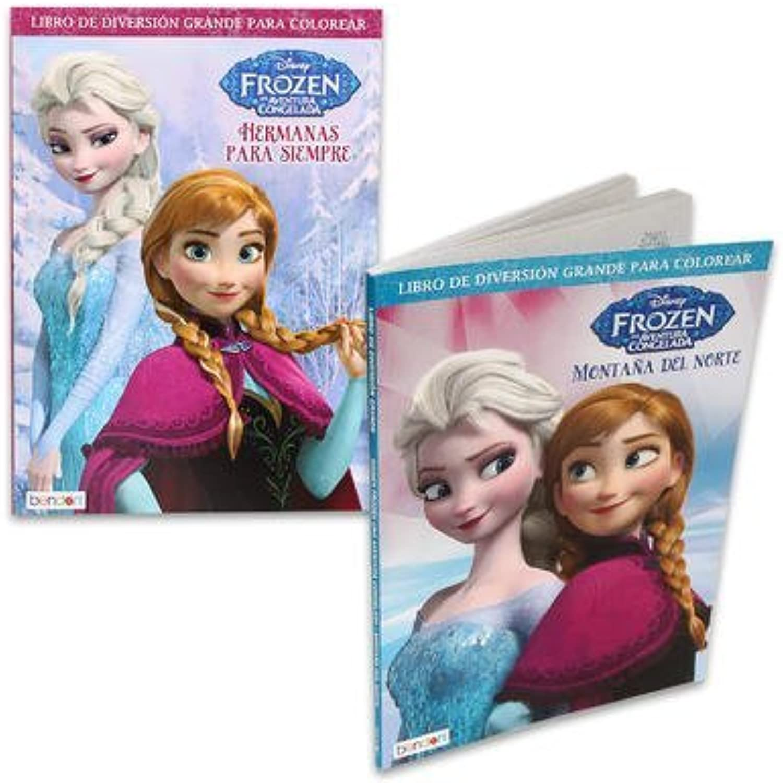 2 Pk, Disney Frozen Spanish coloring & Activity Book, 96 Pages Per Book