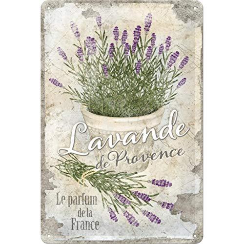 Nostalgic-Art Home & Country – Lavande de Provence – Geschenk-Idee für Nostalgie-Fans, Retro Blechschild, aus Metall, Vintage-Dekoration, 20 x 30 cm