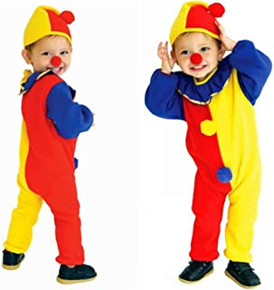 Halloween Child's Clown Costume Kids Baby Jumpsuits Toddlers Dress Up