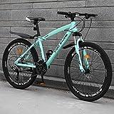 DFSSD Adult Mountainbike, Im Freien Sport Hardtail Mountainbikes Rennräder, Doppelscheibenbremse Land Gearshift Fahrrad,Blue 27 Speed,24 inches