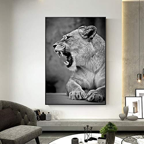 Puzzle 1000 piezas Imagen de arte de pared de cabeza de león beso blanco y negro animal moderno puzzle 1000 piezas educa Rompecabezas de juguete de descompresión intelectual e50x75cm(20x30inch)