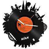 GRAVURZEILE Skyline KÖLN 2018 Wanduhr aus Vinyl