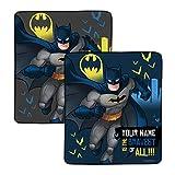 Personalized Batman The Bravest Pixel Fleece Blanket