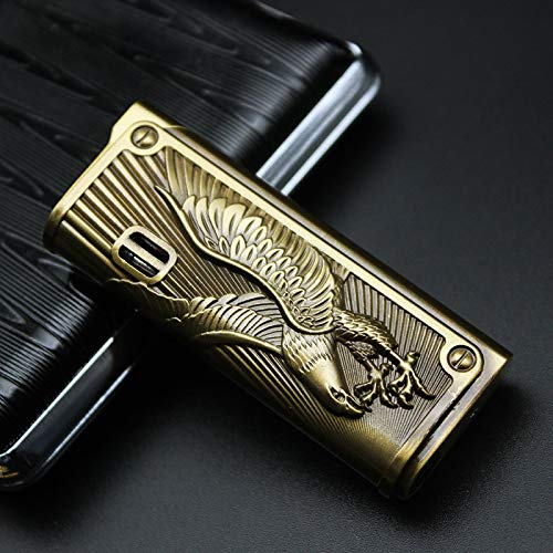 Jet Metal Spray Gun Emboss Lighter Torch Turbo Butane Gas Lighter Cigar Cigarette Smoke Accessories Gadgets for Men Eagle