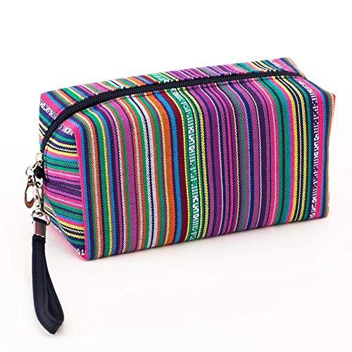 Dames rétro Coton cosmétique Sac rétro Sac Voyage Sac cosmétique de Stockage de Sac (Color : Violet)