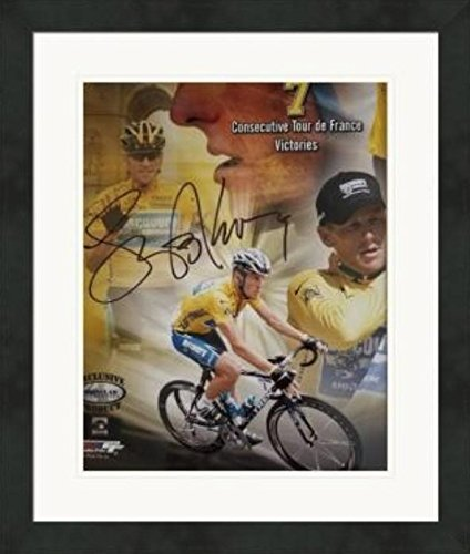 Lance Armstrong USA Cycling Double Matted 8x10 Photograph Tour de France Wall