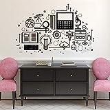 Tianpengyuanshuai Science Lab Sticker Mural Vinyle Autocollant Mural garçon Chambre décor Vitesse Autocollant Chambre Livre décor à la maison-65x103cm