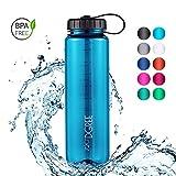 720°DGREE Borraccia di Acqua Basic simplBottle - 1.5 Litri, Blu, Blue | Bottiglia Sportiva Bambini Scuola| Senza BPA