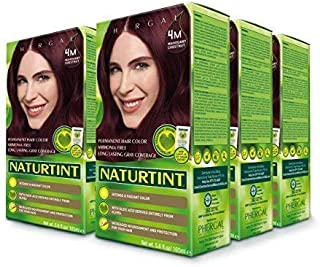Naturtint Permanent Hair Color - 4M Mahogany Chestnut, 5.6 Fluid Ounce (Pack of 6)
