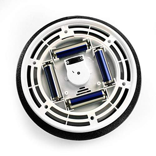 Longspeed LED-Licht Blinkende Musikballspielzeug Elektrische Luftkissenaufhängung Fußballscheibe Disc Hallenfußball schwebendes Segelflugzeug - Schwarz