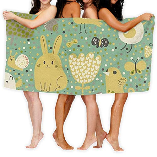 Yaxinduobao Toalla de Playa Animal Toalla de Playa Microfiber Super Absorbent Personality Toalla de baño Quick Drying Beach Blanket Towels 130 x 80 cm 0Y
