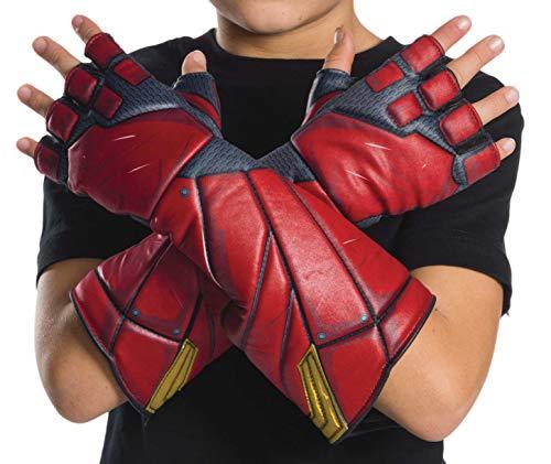 DC Justice League - Guantes de Flash para niños, accesorio disfraz licencia oficial, talla única 3-10 años (Rubie